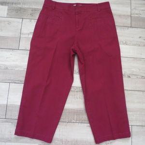 Coldwater Creek Plum Crop Capri Pants Size 10
